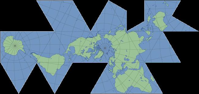 mapa dymaxion world